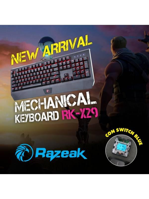 TECLADO RAZEAK MECANICO RGB GAMER RK-X29
