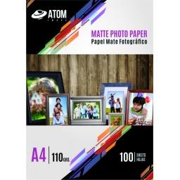 Papel Foto 110 gr. Matte A4 x 100 hojas