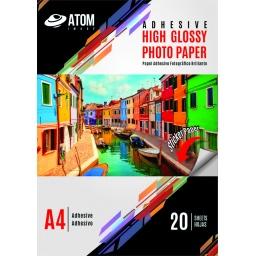 Papel Foto Auto Adhesivo 135 gr. Glossy A4 x 20 hojas