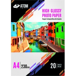 Papel Foto 230 gr. HighGlossy A4 x 20 hojas
