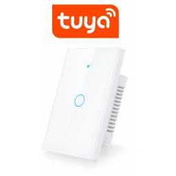 Interruptor De Luz Táctil Tuya Smart 1 Ch Wifi Blanco