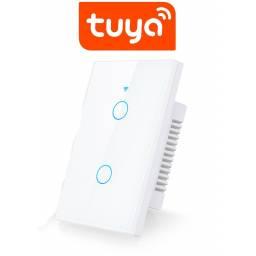 Interruptor De Luz Táctil Tuya Smart 2 Ch Wifi App