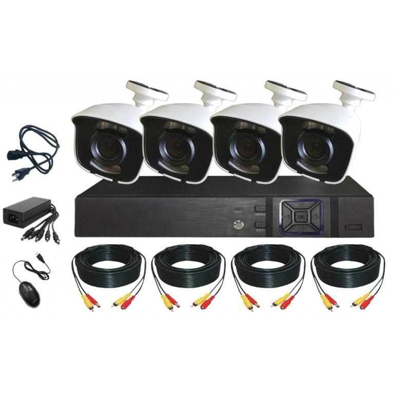 Kit DVR 4 Canales 5M-N y 4 Cámaras 2MP Full HD